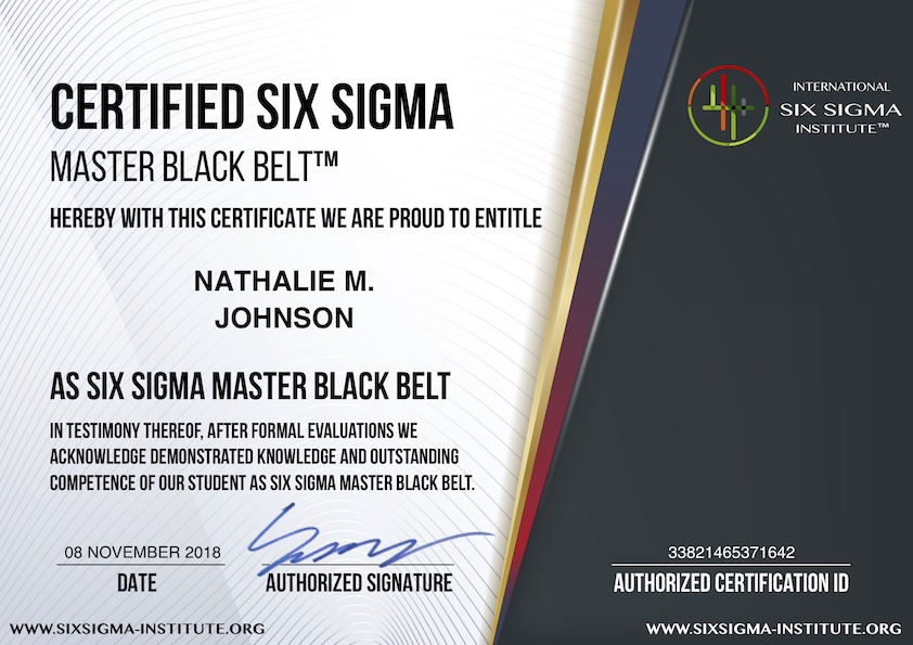 What Is Usd 99 Certified Six Sigma Master Black Belt Cssmbb